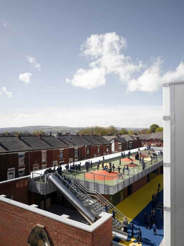 A school in Blackburn where Thornton Sports recently installed a rooftop sports facility has been longlisted for the coveted RIBA Stirling Prize 2013.
