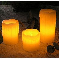 Party Lights - 3pc LED Dripping Candles