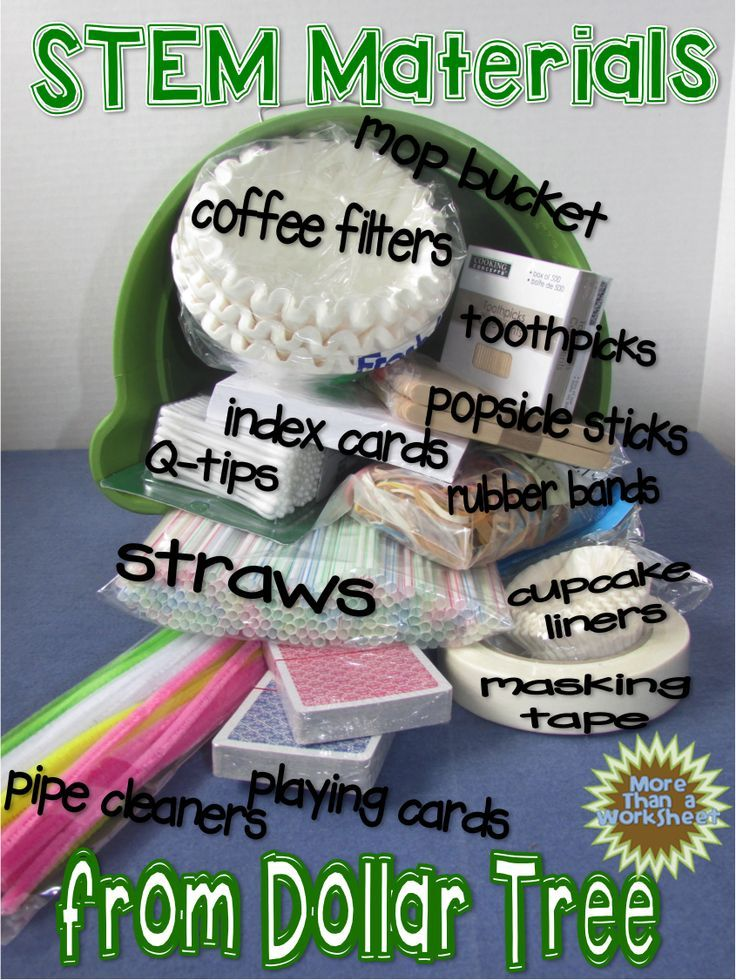 STEM Materials from Dollar Tree ...including Jack and the Beanstalk FREE STEM activity