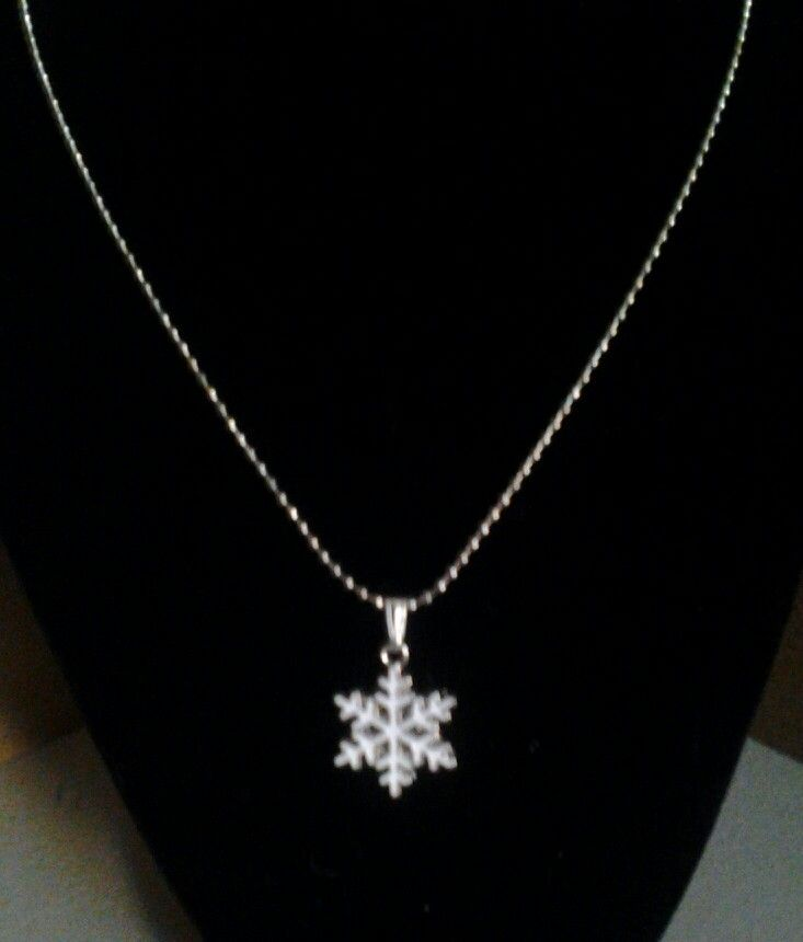 A snowflake on a ball chain.  20 inches long.  $10.00