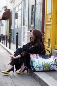 The Brunette - Jeremy Scott Longchamp bag
