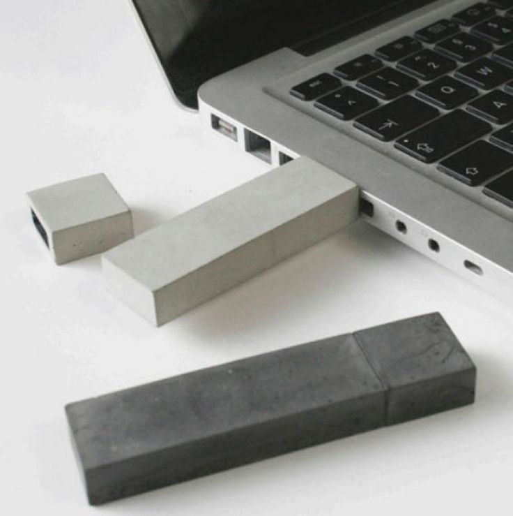 USB-Stick made of concrete.  feminine it is not.