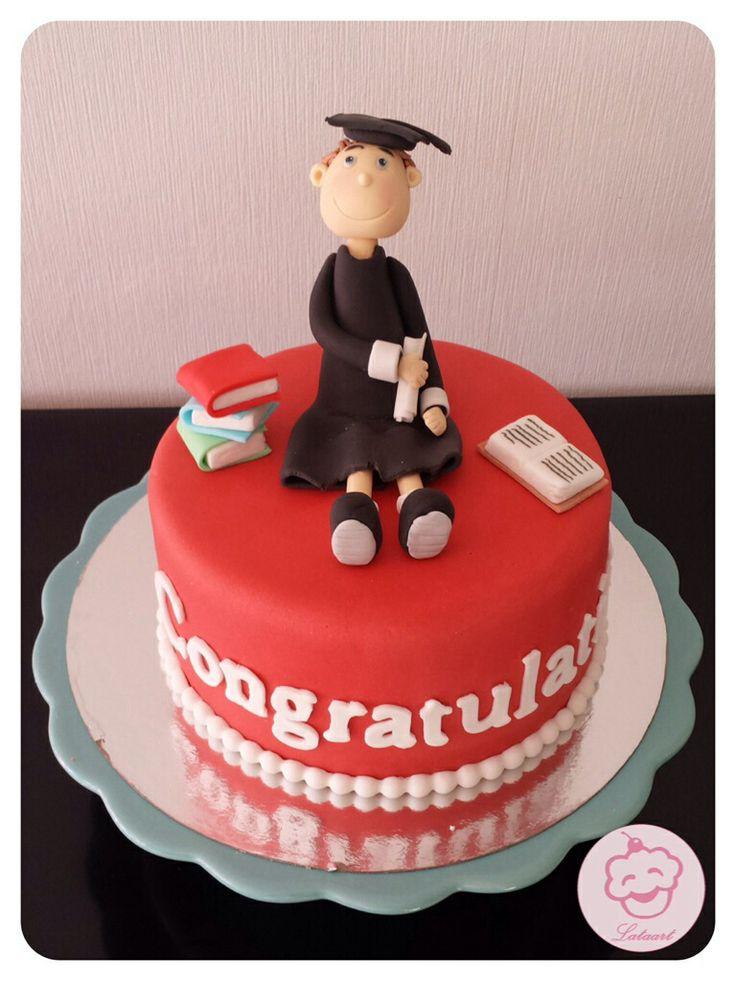 Taart afgestudeerd/graduation cake -  Lataart -www.facebook.com/lataart1