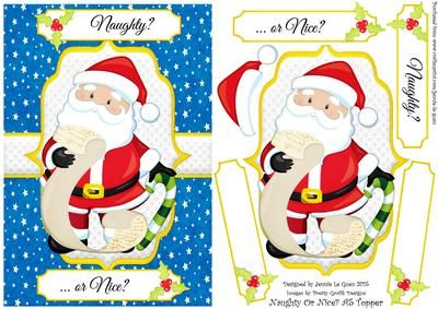 Naughty or Nice A5 Topper on Craftsuprint - Add To Basket!