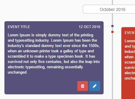 Timeliner is a simple yet robust #jQuery plugin used to generate a responsive, vertical #timeline that allows to dynamically add, remove, edit event entries with custom template support.