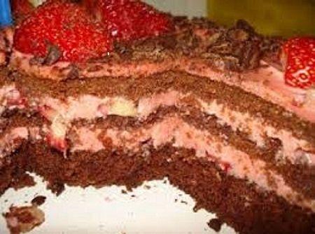 Receita de Bolo de Chocolate e Morango - Cyber Cook Receitas...