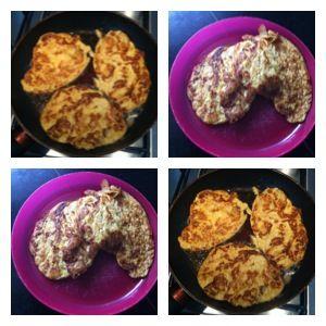 2 eieren klutsen, een banaan prakken, ei en banaan mengen, snufje kaneel erdoor, beetje boter in de pan en bakken maar! Een lekkere, gezonde pannenkoek voor kinderen én volwassenen!