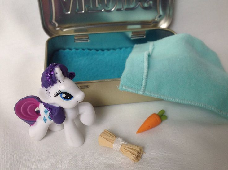 Stocking Stuffer My Little Pony Rarity,  My Little Pony Movie,Altoids Tin My Little Pony bed, Quiet Time Toy, Travel Toy by kattymoon on Etsy https://www.etsy.com/listing/550332046/stocking-stuffer-my-little-pony-rarity
