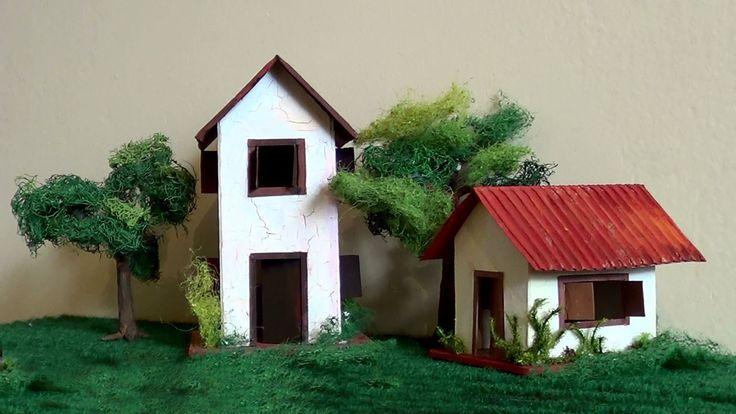 Maqueta de una casa. Explica cómo hacer una maqueta de forma muy sencilla.