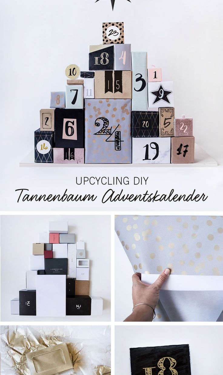 Upcycling DIY: Der Tannenbaum Adventskalender*