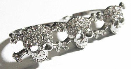 Anel caveira Ossos Duplo  #skull #ring #caveira #anel