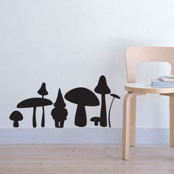 gnome wall deals - from etsy - i have them in orange on the door to my office!