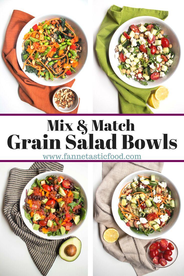 grain salad bowl recipes mix and match
