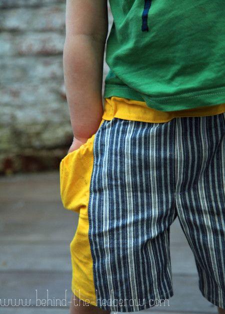 Treasure pocket shorts || Behind the Hedgerow