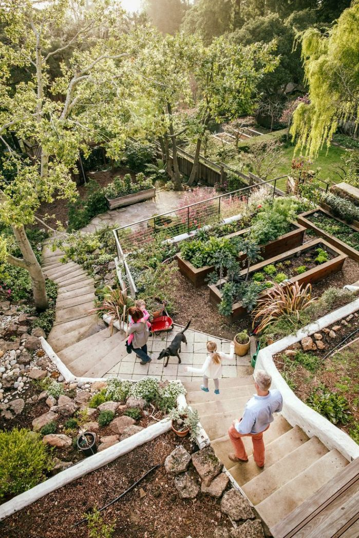 25 Easy And Simple Landscaping Ideas For Beautiful Garden Designs Sloped Backyard Landscaping Sloped Garden Sloped Backyard