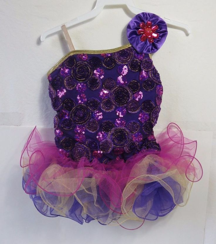 Curtain Call Girls Dance Costume Competition Outfit Purple w/ Tulle Sz CLA w BAG in Clothing, Shoes & Accessories, Dancewear, Kids' Dancewear | eBay