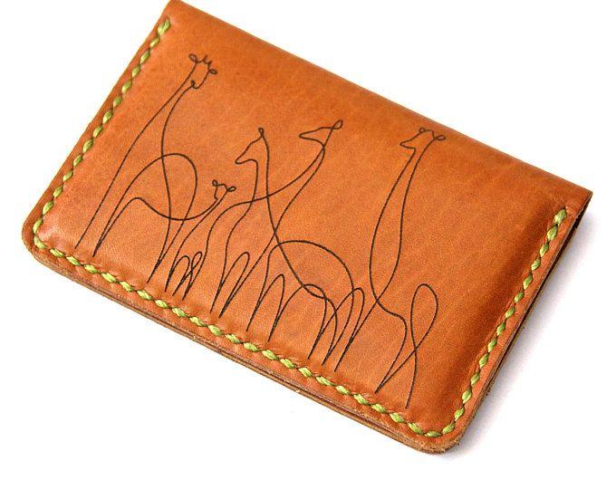 Laser Engraved Leather Wallet Mini Wallet Wallet For Women Credit Card Holder Handcrafted Leather Wallet Laser Engraved Leather Leather Business Card Case