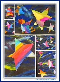 """photo of: """"Draw Me a Star"""" by Eric Carle (Paintings in Eric Carle RoundUP via RainbowsWithinReach)"""