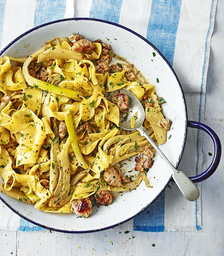 Fennel and sausage meat go together hand in hand in this quick pappardelle recipe.