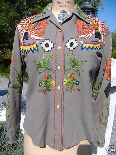 embroidered western shirt , Nathan Turk