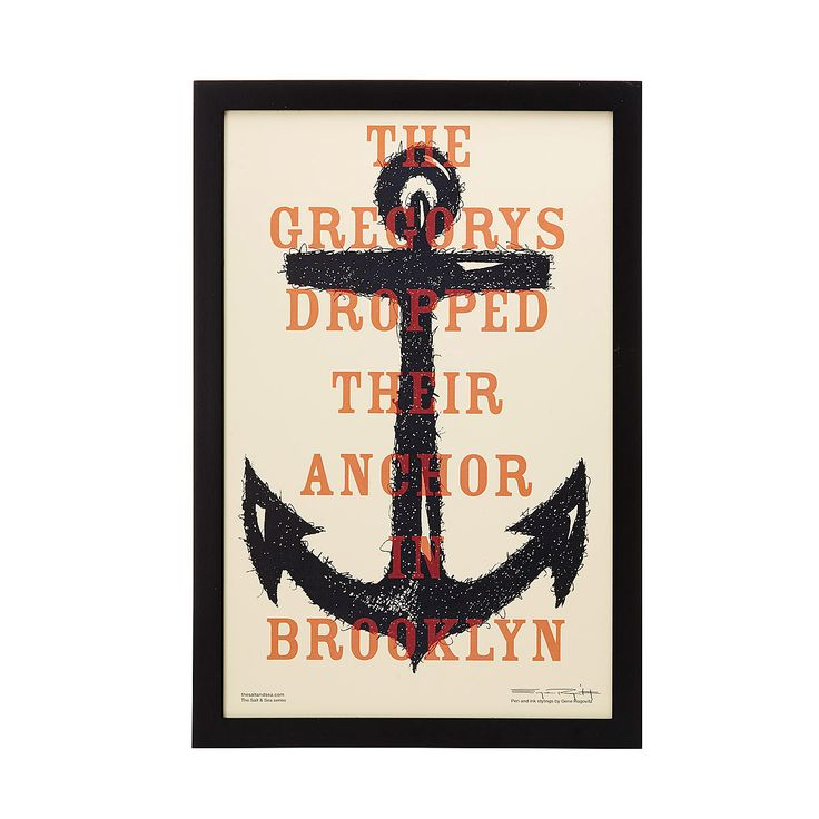 Personalized Family Anchor Print