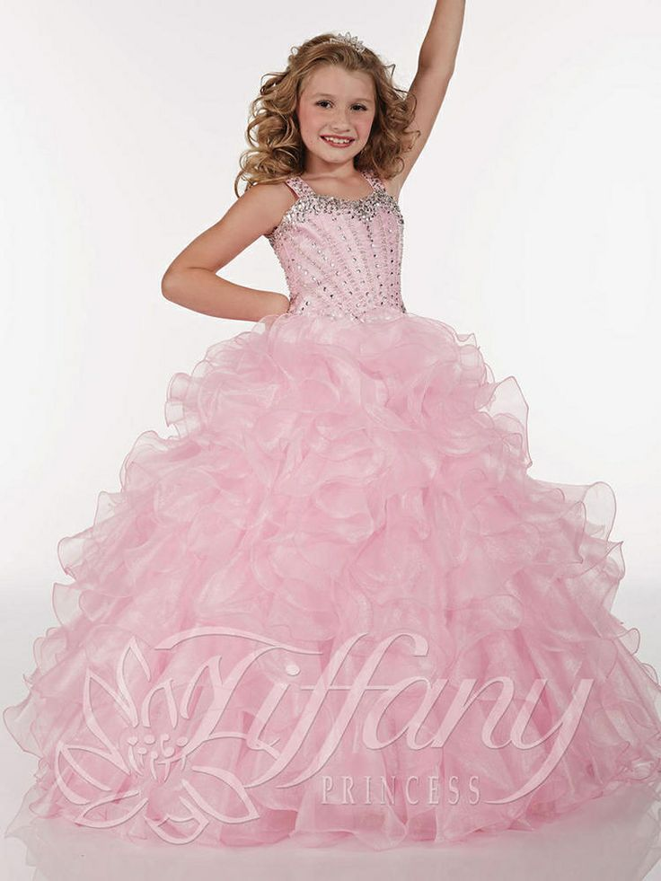 MZ0267 New Designed 2014 Ball Gown Princess Style Pageant Flower Girl Dresses Free Shipping $118.99