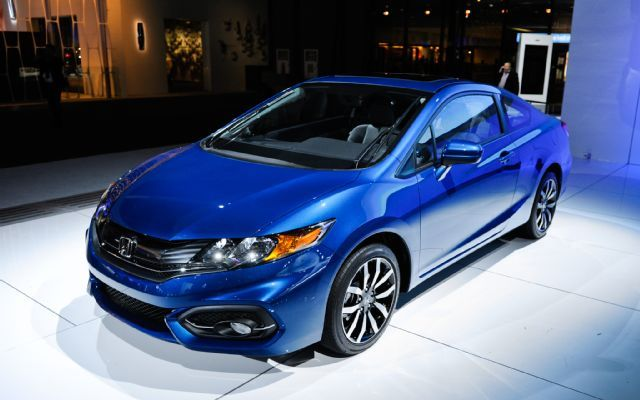 All new 2014 honda civic coupe.. Available at dealerships dec 5th.