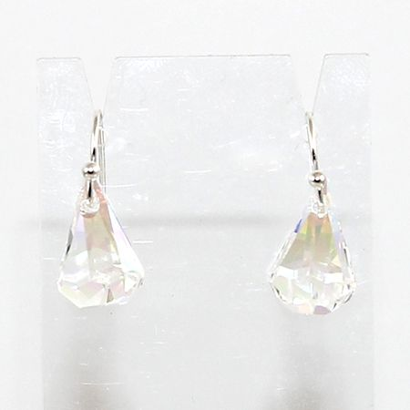 Swarovski Raindrop Earrings - Crystal AB - Silver