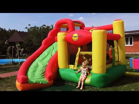 ✿ Hello Kitty на БАТУТЕ Хелло Китти Toys for Girls Игры Для Девочек Hello Kitty Kids trampoline    {{AutoHashTags}}