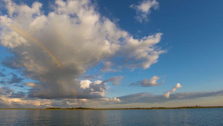 Rainbow over the Laguna Bacalar