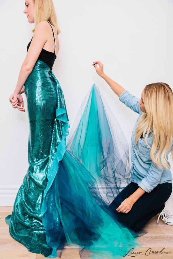 Lauren Conrad's DIY Mermaid Halloween Costume {easy to make and so cute}-just in case one day I need to be a mermaid....