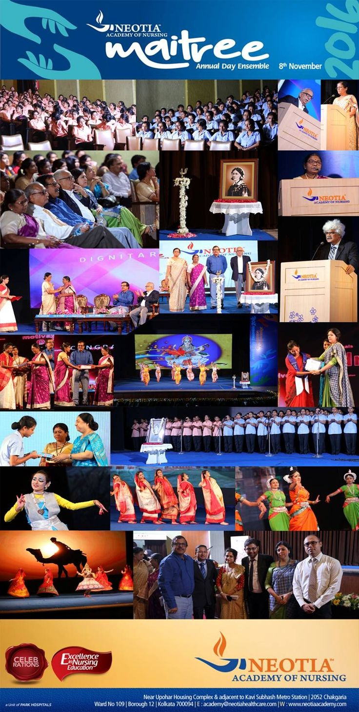 """On 8th November 2016 at Kalamandir, Kolkata , the Neotia Academy of #Nursing proudly celebrated """"MAITREE"""" – its Annual day programme and lamp lighting ceremony with all the students, their guardians, the staff along with distinguished guests of honour and reputed healthcare leaders from various hospitals and health educators from various institutions."""