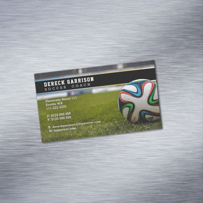 soccer coach business card