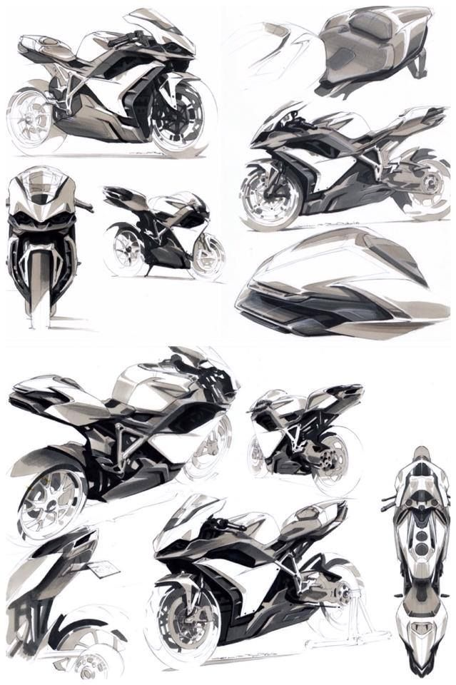 Anthony Collard Motorbike Sketches.