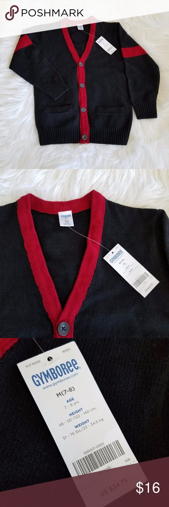 NWT Gymboree Boys Cardigan Sweater Preppy cardigan perfect for the holidays! Size M (7-8) New with Tags! Measurements in photos 20% off bundles of 2 or more SHIPS FAST! Gymboree Shirts & Tops Sweaters