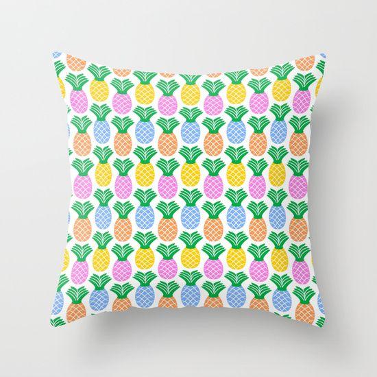 Pineapple Pattern modern trendy throw pillow
