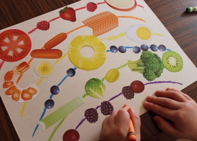 We love this afternoon craft activity showing kids how they can eat the rainbow, literally!