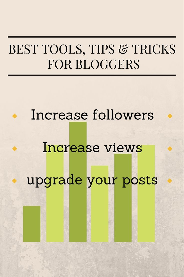 Increase your views with these simple tips & tricks on https://samanthacarraro.wordpress.com/2016/09/08/best-tools-tips-tricks-for-bloggers | Tools for Bloggers | Blogging | Grow your Website