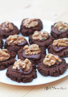 Vánoční kakaové bezlepkové cukroví