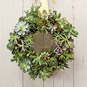 This wreath was actually very easy to make. It was one of five I made for our December 2013 issue.