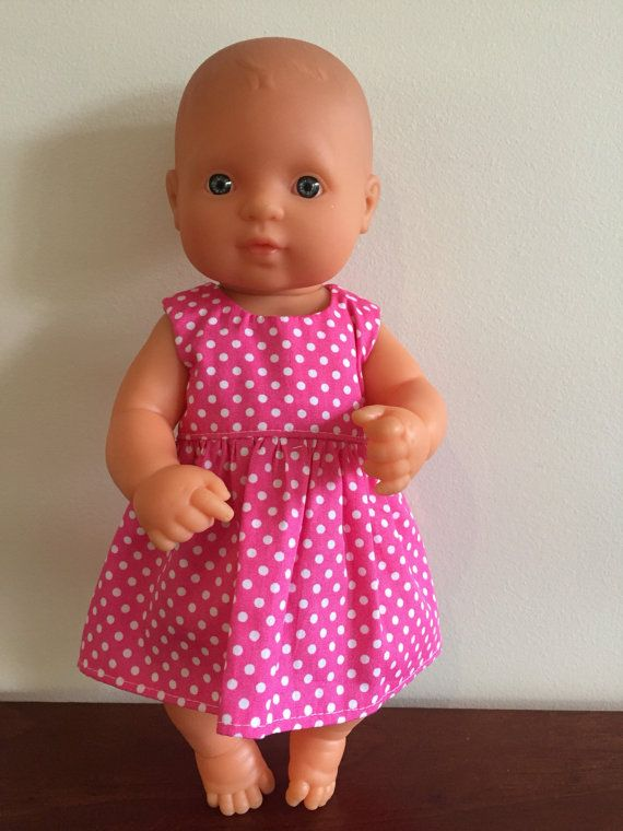 White Spots on Hot Pink Summer Dress by DebsDollsClothes on Etsy