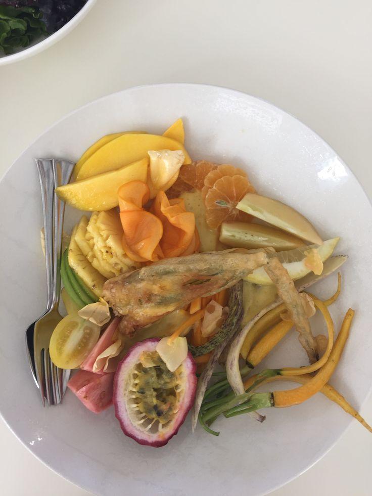 The fresh and delicious yellow salad at Babel Restaurant. #GourmetAfrica #Babylonstoren #foodie