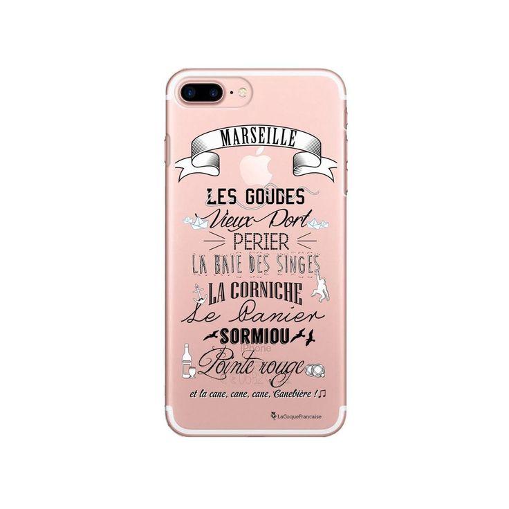 Coque Iphone 7 Plus / 8 Plus Rigide Transparente Quartiers De Marseille Ecriture…