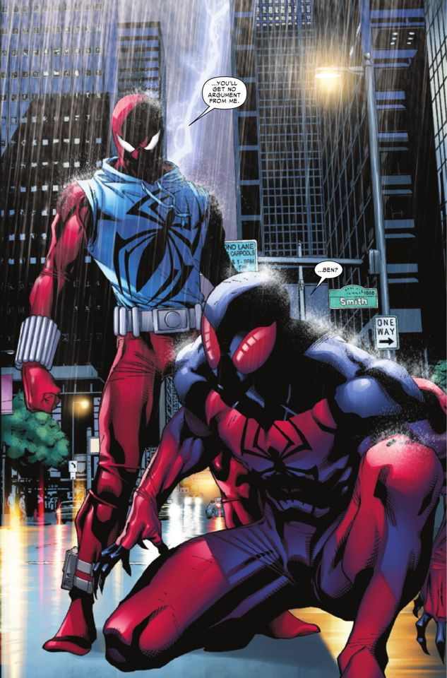 Ben Reilly, the original Scarlet Spider, returns in in Scarlet Spider #21 from Christopher Yost and Carlos Barberi