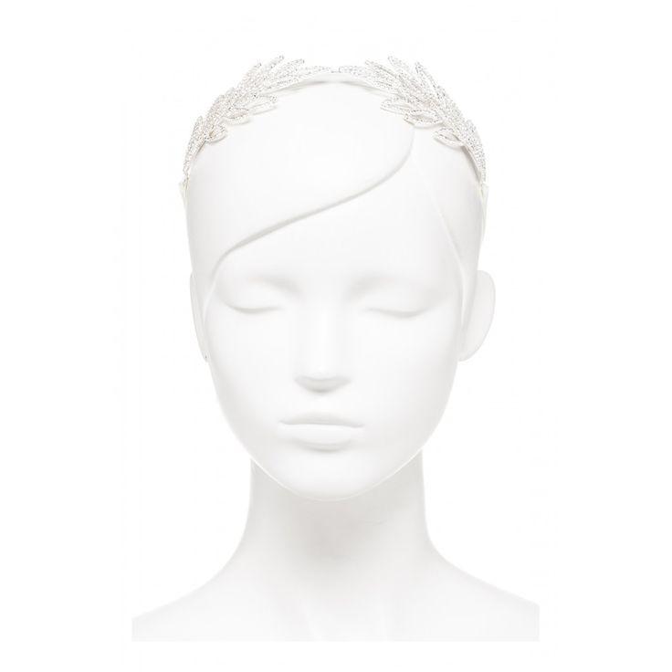 Bridal Crystal Leaf Headpiece
