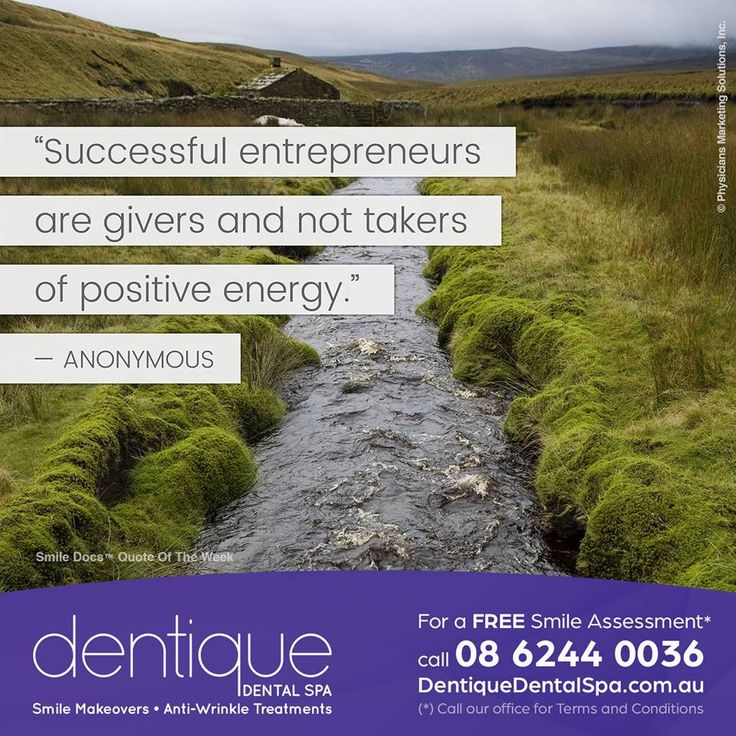 "Quote of the Week – ""Successful entrepreneurs are givers and not takers of positive energy."" —Anonymous / For a Free Smile Assessment*, please call 08 6244 0036 - www.dentiquedentalspa.com.au / (*) Please call our office for Terms & Conditions. #SmileDocs #SmileDeals #drfurlan #dentiquedentalspa #australia #dental #practice #cosmetic #job #tmj #dentistry #invisalign #whitening #filler #care #dentist #antiwrinkle #skincare #dermal #lip #fillers #porcelain #crowns #veneers #implant…"