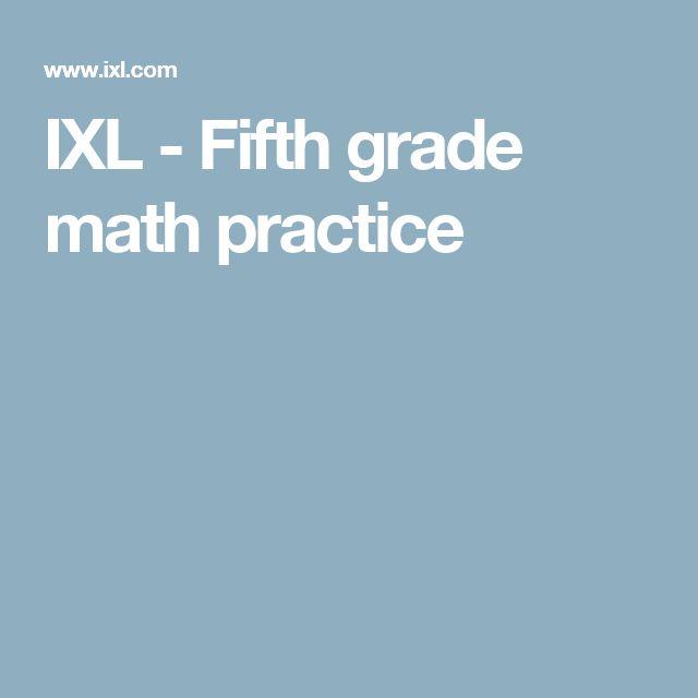 IXL - Fifth grade math practice
