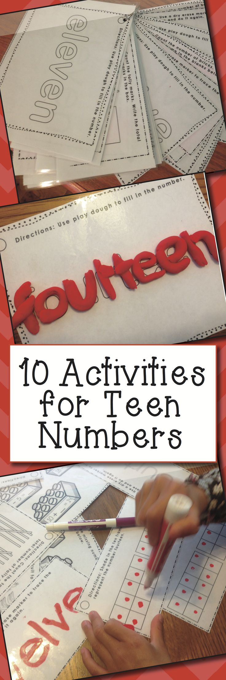 10 Teen Number Activities! Try the activities for Number 11 COMPLETELY FOR FREE! Check out this bundle and find the link to the FREE Number 11 activities in my TpT store!