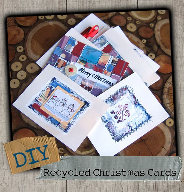 59 best crafts recycled greeting cards images on pinterest diy recycled christmas cards m4hsunfo