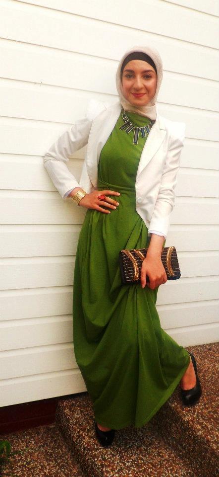 Green. #hijab #fashion